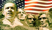 Barack Obama Digital Art Prints - Mount Obama Print by Peter Art Prints Posters Gallery