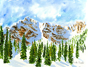 Ski Resort Paintings - Mount Ogden by Walt Brodis