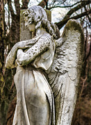 Jeffery Johnson Framed Prints - Mount Olivet Cemetery Angel Of The Wings Framed Print by Photo Captures by Jeffery