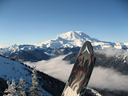 Kym Backland - Mount Rainier Has Skis