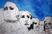 Drawing Painting Originals - Mount Rushmore by Amanda Struz