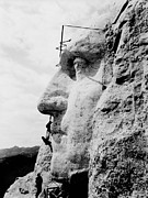 Featured Prints - Mount Rushmore Construction Photo Print by War Is Hell Store