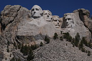 Patriotic Scenes Posters - Mount Rushmore Poster by Cyril Furlan