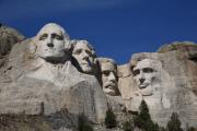 Statue Portrait Photo Posters - Mount Rushmore Poster by Frank Romeo
