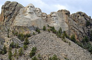Abraham Lincoln Pictures Posters - Mount Rushmore In South Dakota Poster by Clarice  Lakota