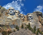 Lanis Rossi Prints - Mount Rushmore National Memorial In Living Color Print by Lanis Rossi
