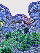 Mount Rushmore Roosevelt Print by Tommy Anderson