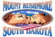 Dakota Mixed Media - Mount Rushmore South Dakota Poster by Peter Art Print Gallery  - Paintings Photos Posters