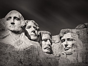South Dakota Photos - Mount Rushmore South Dakota USA by Ian Barber