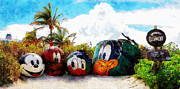 Fab Four  Art - Mount Rustmore Castaway Cay by Sandy MacGowan