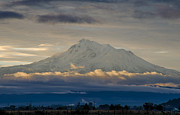 Mount Shasta Photos - Mount Shasta Autumnal Equinox by Loree Johnson