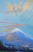Healing Art Paintings - Mount Shasta by Patricia Kimsey Bollinger