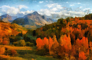 Mountains Digital Art - Mount Sneffles by Susan Humphrey