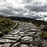 Leading Metal Prints - Mount Snowdon path Metal Print by Jane Rix