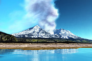 Catastrophe Digital Art - Mount St. Helens Volcano by Corey Ford