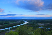 Deerfield River Metal Prints - Mount Sugarloaf Connecticut River Spring Evening Metal Print by John Burk