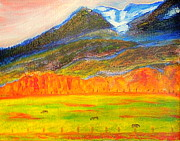Indian Maiden Paintings - Mount Timpanogos East by Richard W Linford
