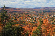 Autumn Foliage Photos - Mount Tom Peak Fall Foliage View by John Burk