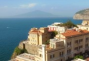 Aqua Blue Photos - Mount Vesuvius From Sorrento by Marilyn Dunlap