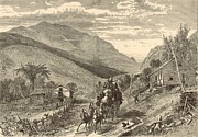 Mountain Road Drawings Framed Prints - Mount Washington from the Conway Road Framed Print by Antique Engravings