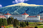 New England Landscapes Digital Art Framed Prints - Mount Washington Hotel Framed Print by Tom Prendergast