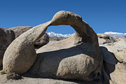 Sandra Bronstein Photo Posters - Mount Whitney Through Mobius Arch Poster by Sandra Bronstein