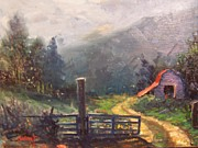 """life Study"" Originals - Mountain Barn by Dan Smart"