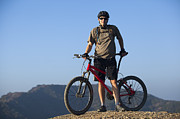 Mountain Biker Print by Mike Raabe
