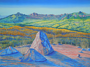 Landscape With Mountains Originals - Mountain Bird Memories Blanco Basin Lookout 1 by Anastasia  Ealy