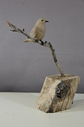 Bluebird Sculptures - Mountain Bluebird by Fred Lunger