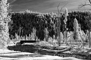 Missoula Prints - Mountain Bridge Print by Paul Bartoszek