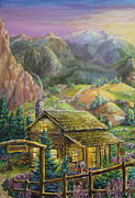 The Shoot Paintings - Mountain Cabin by Jan Mecklenburg