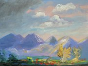 Creative Paintings - Mountain Dream by Patricia Kimsey Bollinger