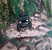 Cruiser Painting Metal Prints - Mountain Drive Metal Print by Eva  Dunham