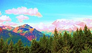 Ann Johndro-collins Prints - Mountain Fantasy Print by Ann Johndro-Collins