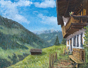 Mountain Farm In Austria Print by Marco Busoni