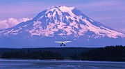 Seaplane Prints - Mountain Flight Print by Benjamin Yeager