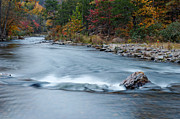 Mountain Fork Creek Prints - Mountain Fork River in the Fall Print by Silvio Ligutti