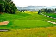 Birdie Prints - Mountain Golf Print by Robert Harmon