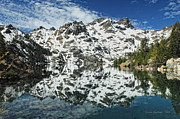 Mountain Reflection Prints - Mountain In The Mirror Print by Donna Blackhall