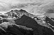Monochrome Pyrography Prints - Mountain Print by Jordi Puig