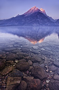Mountain Art Photos - Mountain Lake by Andrew Soundarajan