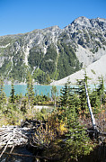 Turquoise Mountain Lake Prints - Mountain lake Print by Marlene Ford