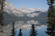 Mountain Lake Reflecting Mountain Range Print by Michael Interisano