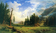 Bierstadt Prints - Mountain Landscape  Print by Albert Bierstadt