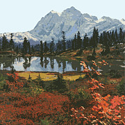 Vector Prints - Mountain Landscape Print by Gary Grayson