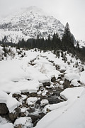 Winter Landscape Photos - Mountain landscape with a river in the alps in winter by Matthias Hauser