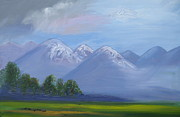 League Painting Prints - Mountain Majesty of God Print by Patricia Kimsey Bollinger