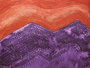 Printmaking Prints - Mountain Majesty original painting Print by Sol Luckman
