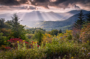 God Beams Framed Prints - Mountain Majesty Framed Print by Rob Travis